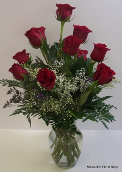 Perfect Red Roses Arranged