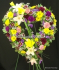 Order Large Multi Flower Open Heart