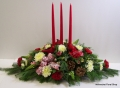 Order Traditional Triple Candle Centerpiece